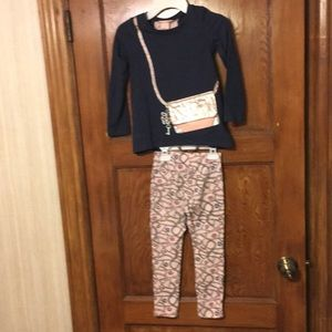 Juicy couture girl's 2pc outfit toddler size 5